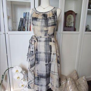 NWT Coldwater Creek brushstroke plaid midi dress